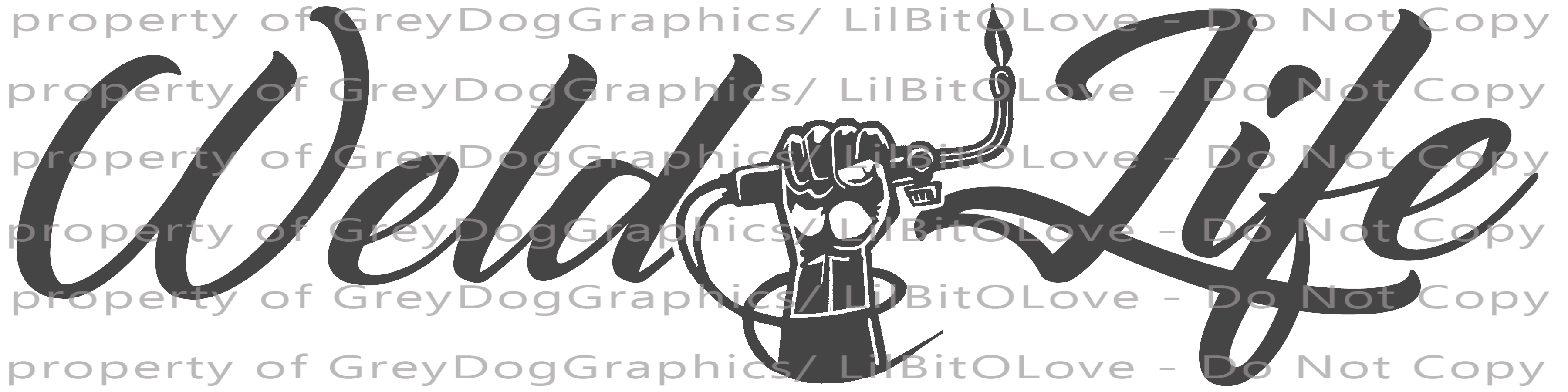 Weld Life Vinyl Decal with Hand holding torch by ...