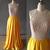 Copy of Stylish High Neck Pearls Long Prom Dress 2018,Yellow Shiny Satin Prom
