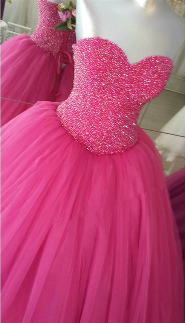 Pink Ball Gowns Prom Dress,Sweetheart Dress,Pink Quinceanera Dresses,Sweet 16