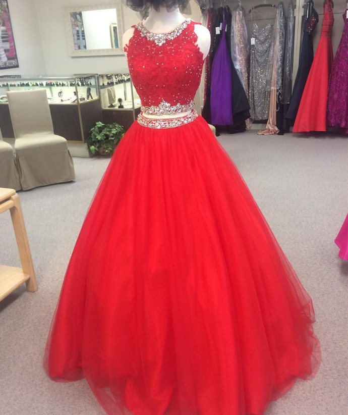 red quinceanera dress,ball gowns quinceanera by lass on Zibbet