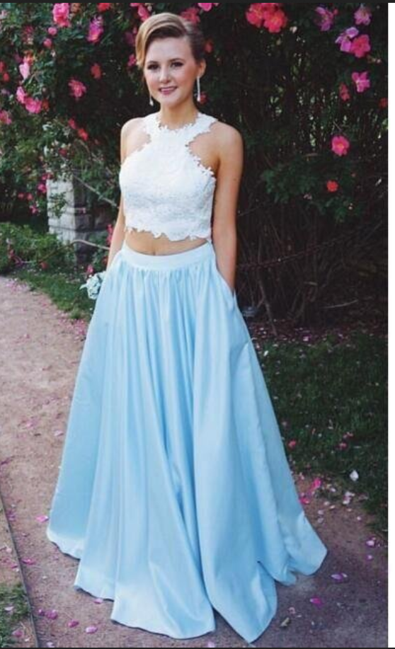 Lace Top Prom Dresses