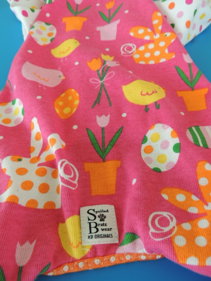 MEDIUM-TALL Spring FLING Cotton Dog Jammies