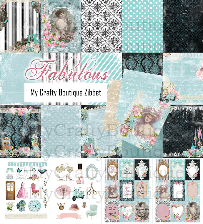 """Fabulous"" Printable Kit"
