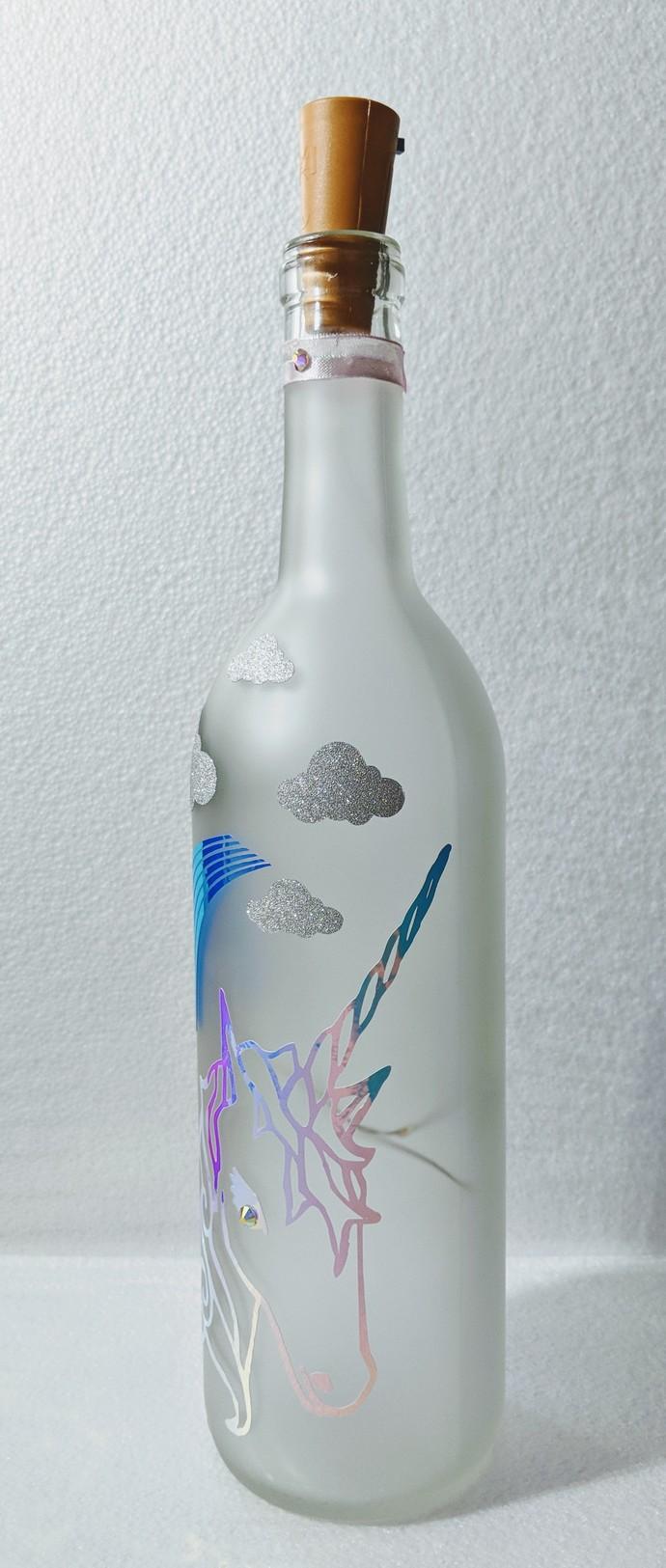 Kori the Unicorn light bottle.