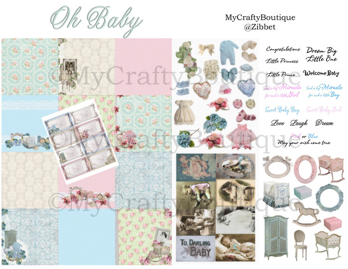 """Oh Baby"" Printable Kit"