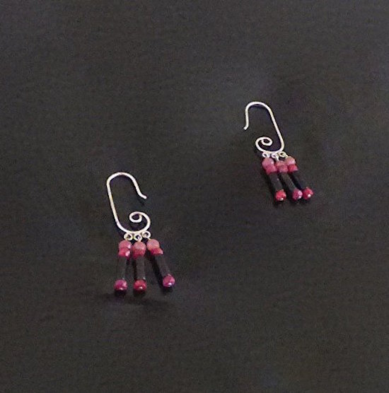 Cute Sterling Silver Tourmaline Earrings