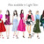Watercolour fashion illustration clipart -  Fashion Girls 8 - Dark Skin