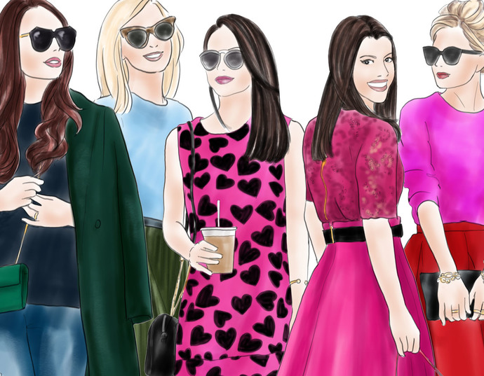Watercolour fashion illustration clipart - Fashion Girls 8 - Light Skin