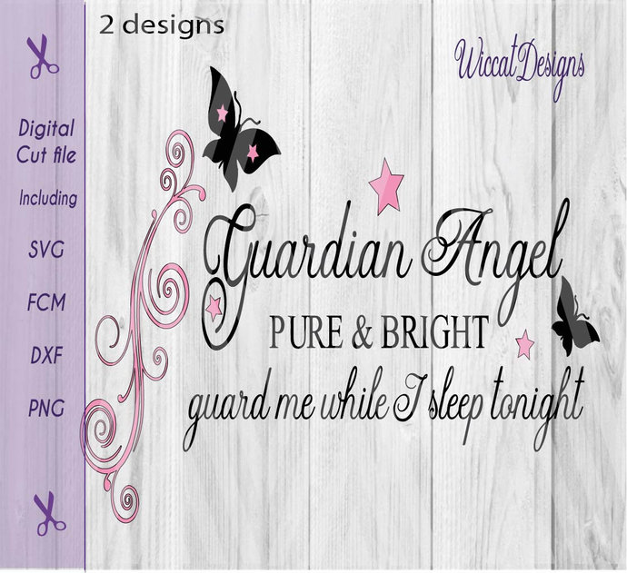 Baby Guardian Angel Quotes: Guardian Angel Svg, Angel Quote, Nursery By Wiccatdesigns