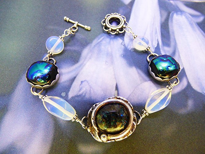 Midnight Waters Bracelet in Fine Silver