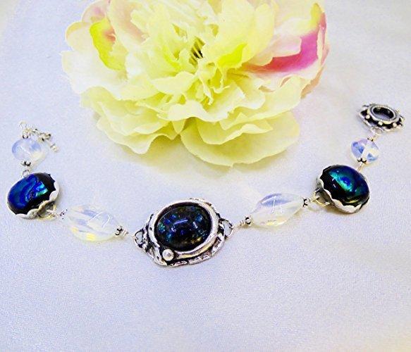Midnight Waters Bracelet in Fine Silver
