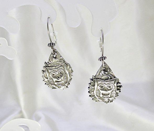 Rich .999 Fine Silver Owl Earrings