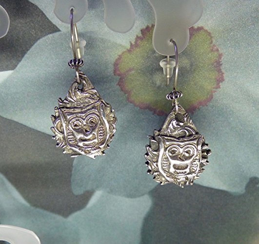 Rich .999 Fine Silver Owl Earrings