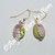 Green & Pink Owl Earrings