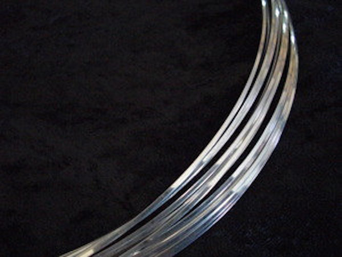 22 Gauge Square Sterling Silver Argentium Wire HH  5 ft.