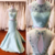 Charming Prom Dress,Two Pieces Prom Gown,Beading Prom Dress,Mermaid Prom Gown