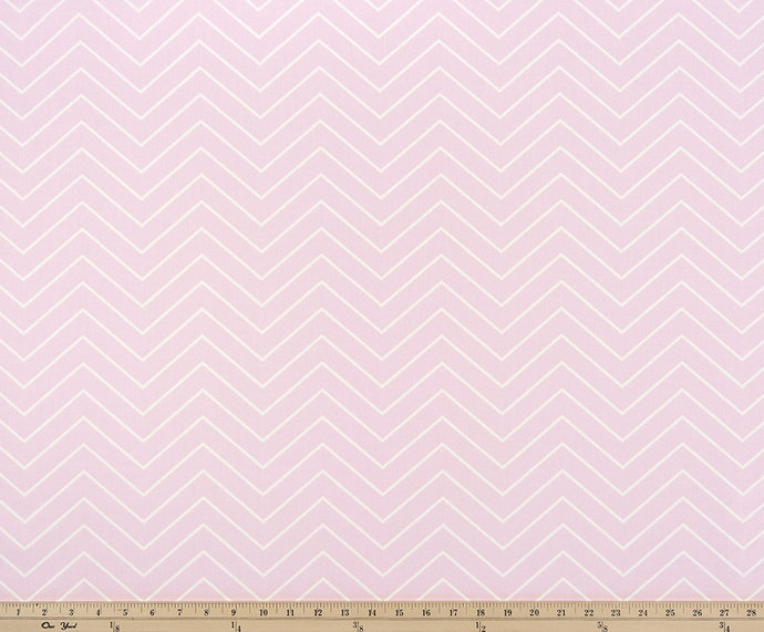 Bella Pink And White In Chevron Print Fabric By Twistedbobbin On