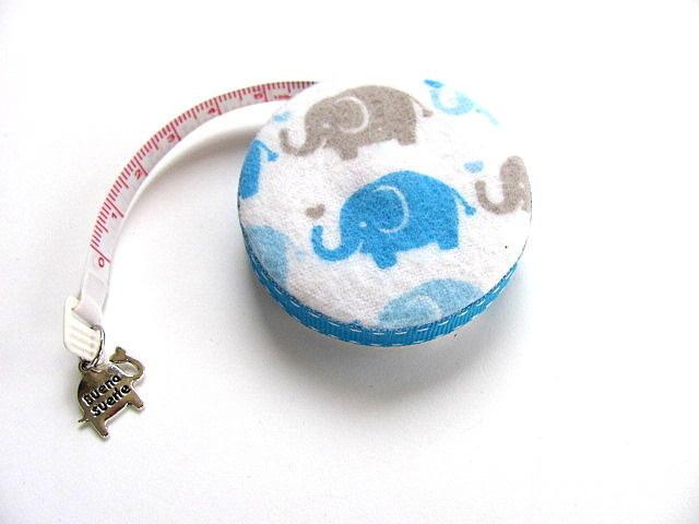 Tape Measure Blue Elephants Retractable Measuring Tape