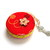 Retractable Tape Measure Yarn Balls on Red Measuring Tape