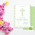 Green First Communion Invitation Digital file 5x7- 1st Communion Invitation -