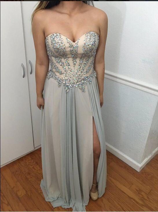 Charming Prom Dress,Beading Prom Dress,Sweetheart Prom Dress,Chiffon Evening