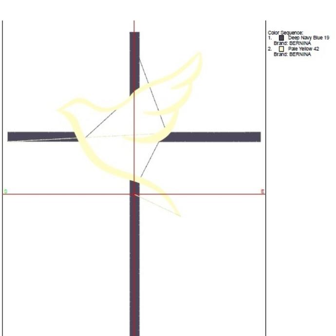 Machine Embroidery Design Dove Cross Christian pes designs machine digital