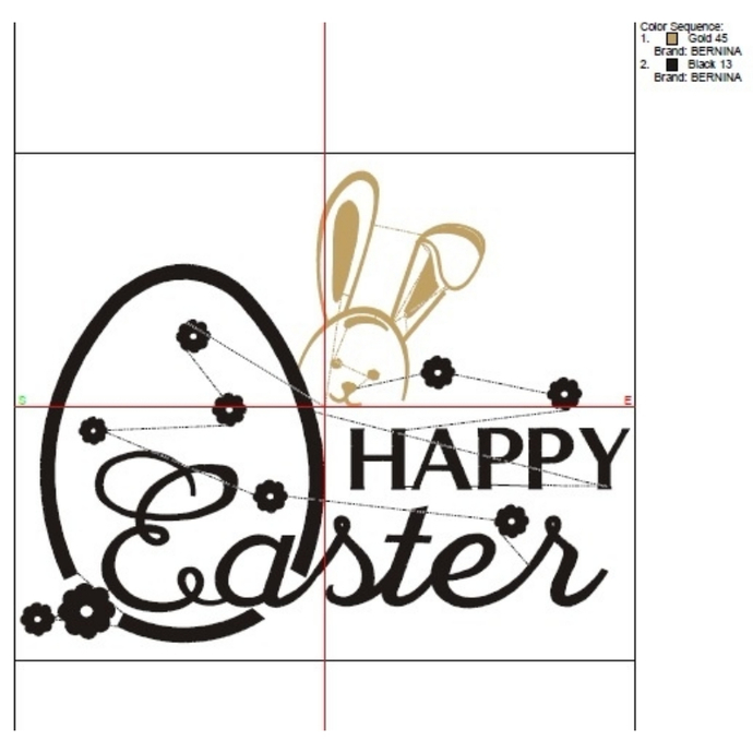 Embroidery Machine Designs Happy Easter Bunny pattern digital instant download