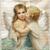 Angel Kisses Digital Collage Greeting Card1099