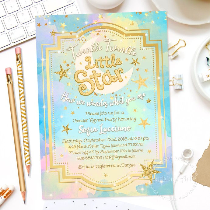 photo regarding Free Printable Twinkle Twinkle Little Star Baby Shower Invitations identify Gender Demonstrate Invitation, Twinkle Twinkle Minor Star Gender Describe, Boy or girl Shower Invitation, Boy Female Gender Describe Get together, Printable Documents