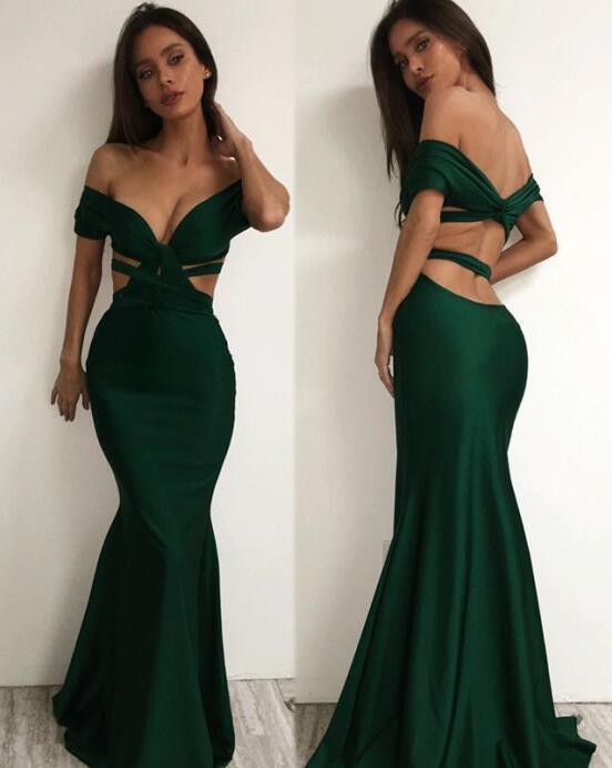 Sexy Emerald Green Prom Dressmermaid Cross Prom By Dress On Zibbet
