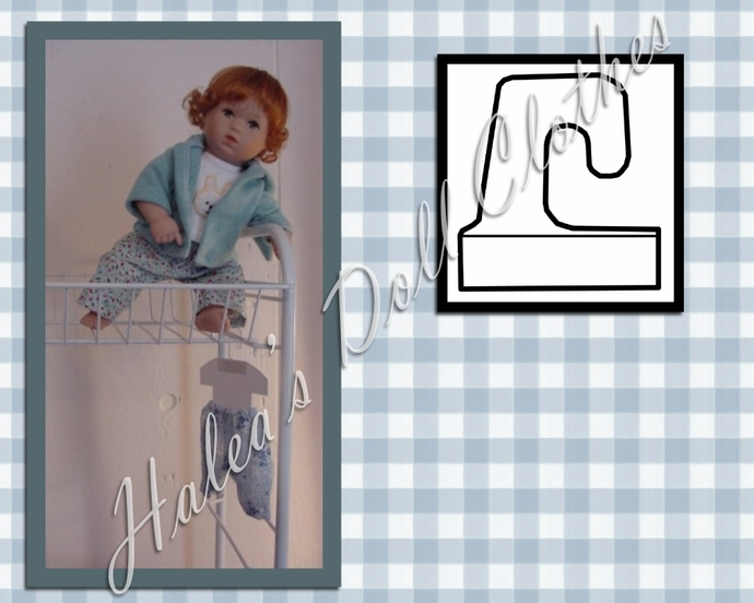 PDF Pattern #22 Hangers for Small to Medium Dolls with Skirt Pants or Bloomers