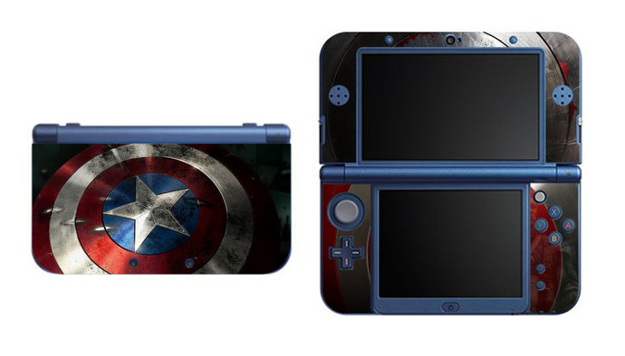 Captain America NEW Nintendo 3DS XL LL, 3DS, 3DS XL Vinyl Sticker / Skin Decal