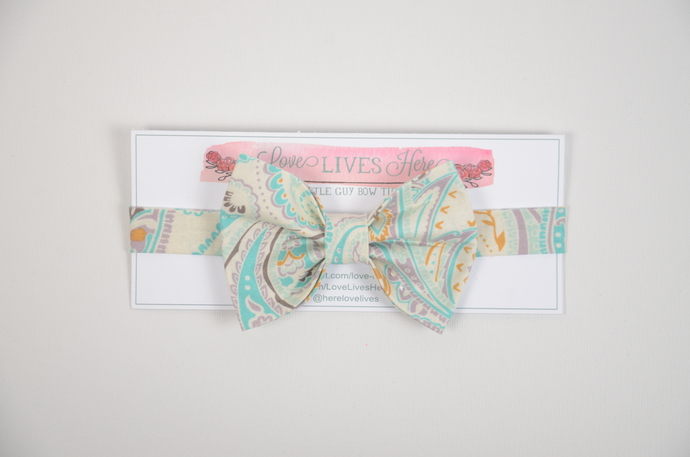 Little Guy Bow Tie - Perfect Paisley