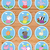Peppa Pig Cupcake Toppers Blue Checkered * Peppa Pig Birthday * Peppa Pig