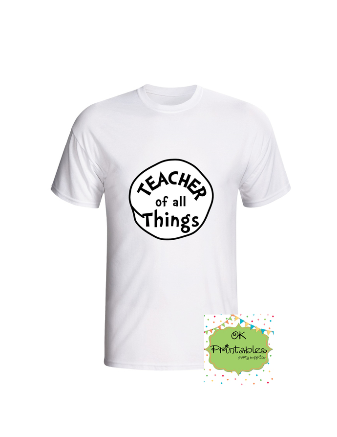 Teacher of ALL Things - Printable Iron On -Clip Art - DIY Disney Shirt - Iron On