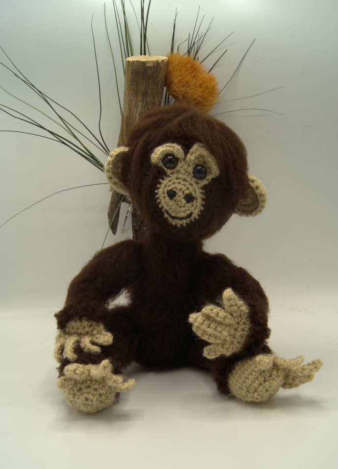 Chimpanzee  Amigurumi/Stuffed Monkey Animal/ Monkey Toy/African Chimpanzee