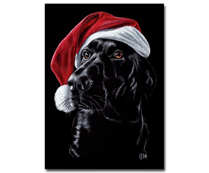 BLACK LAB 30 Labrador puppy dog colored pencils painting Sandrine Curtiss