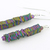 Rainbow Pyrite Column Earrings