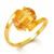 7.08 ct Natural Pukhraj Birthstone Yellow Sapphire Gemstone Panchdhatu Ring,