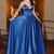 Elegant Royal Blue Prom Dress,Saghetti Strap Long Prom Dresses