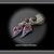 Springtime Mountain~ Garnet Gemstone Lampwork Glass Artisan Earrings