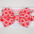 Little Guy Bow Tie - Red Chain Link