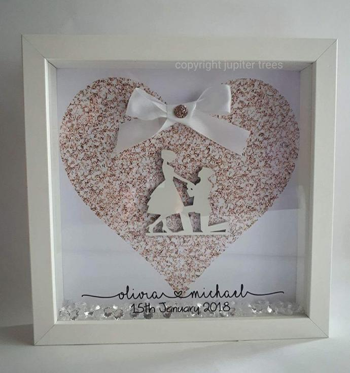 Engagement Silhouette Frame by Jupitertrees on Zibbet