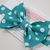 Little Guy Bow Tie - Teal Polka Dot