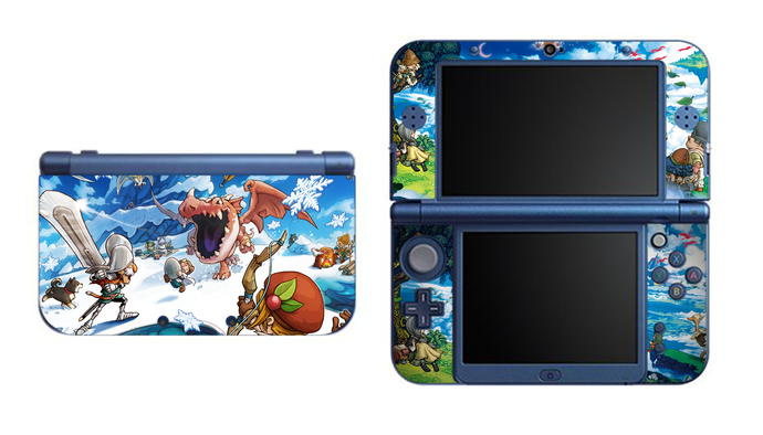 Fantasy Life NEW Nintendo 3DS XL LL, 3DS, 3DS XL Vinyl Sticker / Skin Decal