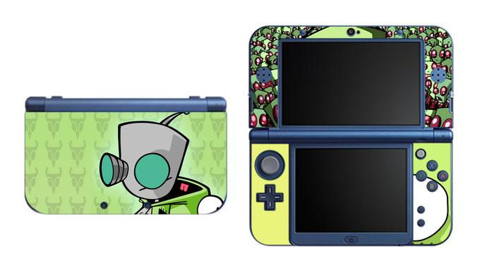Invader Zim NEW Nintendo 3DS XL LL, 3DS, 3DS XL Vinyl Sticker / Skin Decal