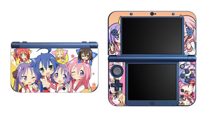 Lucky Star NEW Nintendo 3DS XL LL, 3DS, 3DS XL Vinyl Sticker / Skin Decal