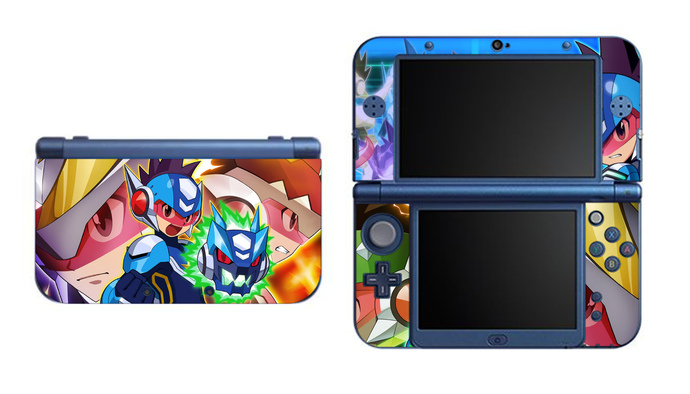 Megaman starforce new nintendo 3ds xl ll 3ds 3ds xl vinyl sticker skin