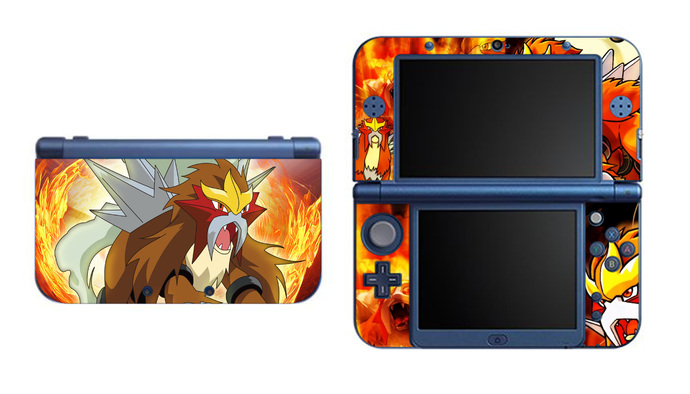 Entei NEW Nintendo 3DS XL LL, 3DS, 3DS XL Vinyl Sticker / Skin Decal
