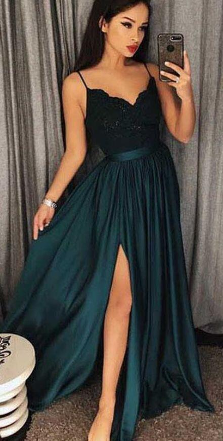 90d7715bd505 Dark Green Prom Dress